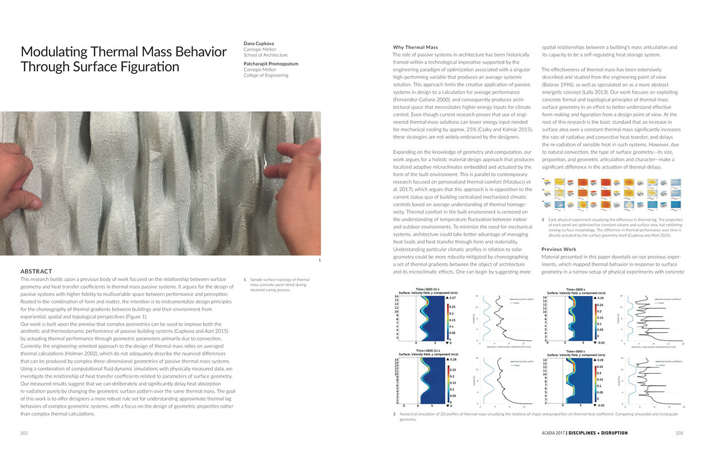 Modulating Thermal Mass Behavior ACADIA 17 1