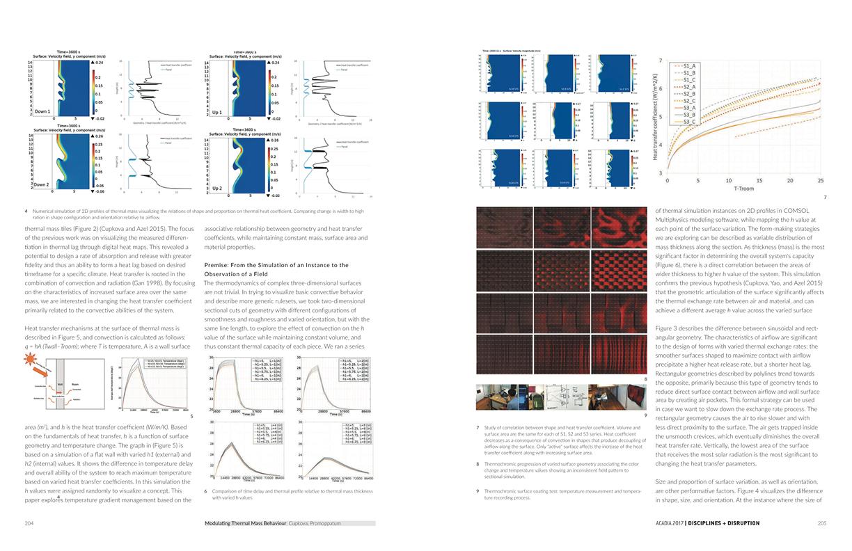 Modulating Thermal Mass Behavior ACADIA 17 2